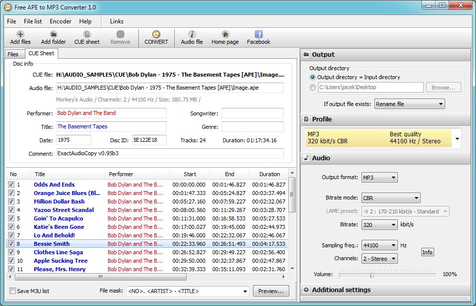 free software to convert rar to mp3