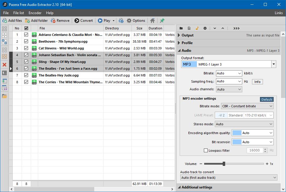 Free Audio Extractor - Ogg files