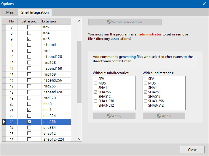 PS Hash - Shell integration
