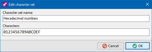 PSGen - Edit character set